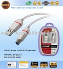 USB 3.0 A to mini USB 3.0 B male cable