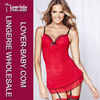 Sexy womens babydoll nightie red