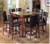 Faux Marbled top counter dining table and chairs