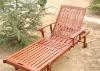 (W-D-1200) high quality wooden steel sun lounger