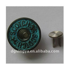 2012 Metal Jeans Button