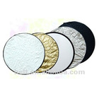 110cm 5 in 1 round collapsible reflector board photographic studio photo reflector discs,background reflector board