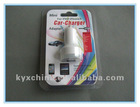 2.1A Mini car charger with 2 USB port