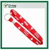 Red Tubular Lanyard With Crimped Finishing