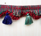 NATIONAL BRAIDED TASSEL KEYCHAIN FRINGE FOR DECORATION CURTAIN ACCESSORY