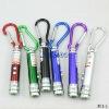 3 in 1 UV laser pointer LED Flashlight Keychains