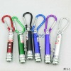 3 in 1 UV laser pointer LED Flashlight Keychains