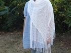 Ladies scarves / Plain Dyed and Knitted Jacquard Scarf / Scarf