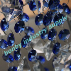 Blue and clear colors faceted wedding crystal pendants