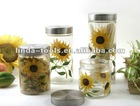 Handpainted Sunflower Glass Jar For Home Decoration