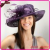 2012 New Design Purple Sinamay Wedding Hat