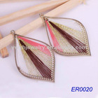 2012 alloy earring jewerly leaf shape earrings