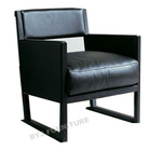 cow leather modern chair c009