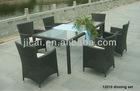 Outdoor furniture rattan dinning set