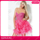 AZ0647 Beading Rhinestone Pink Sexy Girls Party Dress