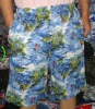 Men's colourful printed cotton beach shorts