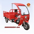 Cargo tricycle, three wheel motorcycle with simple cabin SD200ZH-2A