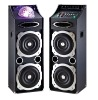 hot sale 2.0 professional multimedia stage party dj black wireless micphone speaker with ball led usb/sd/fm(L-3)