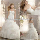 Free Shipping QNWD1129-07 Strapless With Beading Layer Skirt Mermaid Wedding Dresses