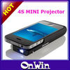 Newest!!! DLP Iphone4/4S Mini Projector with Backup Battery Function