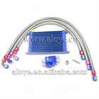 13Rows Universal Modified Vehicle Dual Engine Oil Cooler