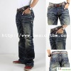 Men's Cable Stitching New Design Denim Jean