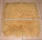 Hot sale!! long hair and luxuriant tiblet lamb fur cushion