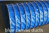 pvc canvas ventilation air duct(blue color)