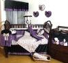 Elegant purple dressing baby bedding set