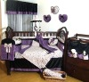 Elegant purple dressing baby bedding set