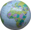 Infltable earth beach ball