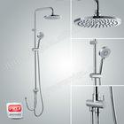 brass round shower column