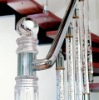 indoor staircase & baluster.acrylic post.acrylic handrail.crystal baluster