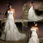 Plus Size Sweetheart Crystal Beading Ruffled Bridal Gowns