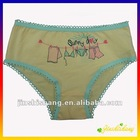 4-6 years old cartoon girl's briefs