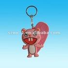 Pink Cartoon Shape 2 D one face custom soft pvc keychain