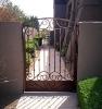 ornamental elegent wroght iron gate