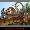 Madagascar theme park sculpture,Cartoon figure statue