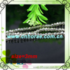 3mm crystal glass beads strand