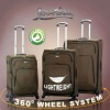 Polyester trolley luggage set/travel bags/4 spinner wheels suitcase