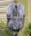 100% best quality silver fox fur vest/SMK88