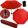Auto open and closed 3 folding Umbrella