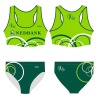 Sublimated Women Sports Running Top and Tri Shorts RWB02