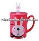 2012 christmas gift idm gift lovely plastic cartoon coffee cup