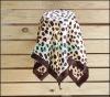 Fashion Leopard scarf Imitation satin silk scarf NUS01HJ02