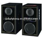 2.0 audio speaker professional active speaker wooden box karaoke speaker home theater system with usb,sd,fm,amplifier(DF-52)