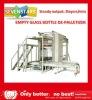 automatic empty glass bottle de-palletizing machine