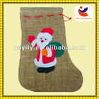 2012 hemp rope santa claus design style christmas sock christmas socks bag