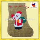2012 hemp rope santa claus design style christmas sock christmas socks bag