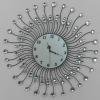 60cm Sun shape Iron with Acrylic art Taiwan machine clock